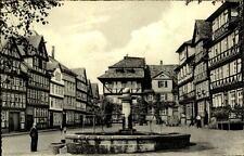 Bad Sooden Allendorf Postkarte ~1950/60 Partie am Marktplatz mit Brunnen Auto