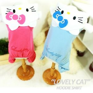 Luxury Pet Apparel- HelloKitty Clothes Blue&Pink Small-XLarge Shirt Hoodie Cat