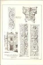 1887 GENOVA Uscio Casa ANDREA DORIA Ornamento dettaglio WH bidlake OPERA D'ARTE