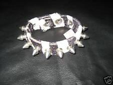 New Tiger Fake Furry Spike Studs Bracelet Wristband Cuff Punk Psychobilly Retro