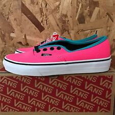 VANS AUTHENTIC BRITE NEON PINK BLACK SIZE 11 NEW IN BOX