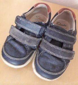 Clarks Childrens Infants Navy Shoes 6.5 H