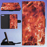 FIRE FLAME HEAT HOT FLIP WALLET CASE FOR APPLE IPHONE PHONES