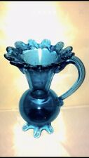 Antique Blue Glass Pot 1899