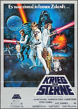 "Poster Star Wars 1977 German A1 23.25""x33"" VF+ 8.5 Harrison Ford George Lucas"