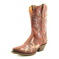 Leather Floral Cowboy, Western Women's Shoes