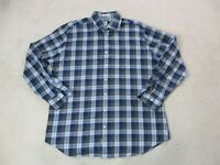 Peter Millar Button Up Shirt Adult Extra Large Blue Gray Casual Long Sleeve Mens
