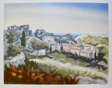 """VICTOR ZAROU """"LE VILLAGE"""" Hand Signed Limited Edition Lithograph French Art"""