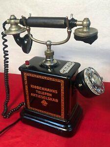 Antique Kjobenhavns Telefon Aktieselskab KTAS Danish Denmark Crank Telephone
