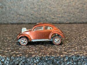 Original 1968 Hot Wheels Redlines US Custom VW (Brown w/White Interior) Minty!