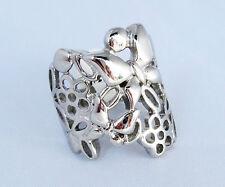 Markenlose Modeschmuck-Ringe im Gliederring-Stil aus Edelstahl