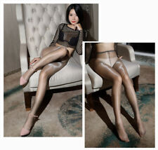 High Shiny Glossy One Line Crotch Sheer Stockings Club Dance Tights Pantyhose