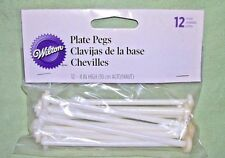 "4"" Wilton plate pegs -package of  12"
