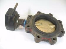 NOS Milwaukee Valve ML323E AS w/ Gear Operator Butterfly Valve 6