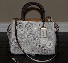 💚 COACH Rogue 25 Satchel Tea Rose Floral Flower Bag Leather Handbag Purse $895