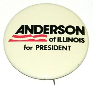 1980 JOHN B ANDERSON ILLINOIS campaign pin pinback button political presidential
