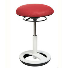 Büro-Hocker Drehhocker Sitzhocker Bürostuhl Topstar Sitness Bob rot weiss B-Ware