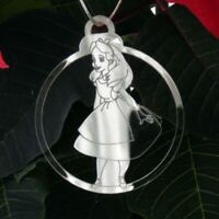 6 Pk Handmade ALICE IN WONDERLAND Acrylic Christmas Decorations