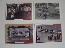 Lot 4 Vignettes Panini Génération Dorée 1958 n°85-86-87-88 Fiers d'être Bleus