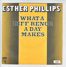 "Esther PHILLIPS Vinyle 45T 7"" WHAT A DIFFERENCE A DAY MAKES - CTI 42527 F Rèduit"