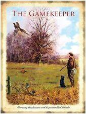 Gamekeeper Hunting Pheasant, Labrador, English Countryside, Large Metal/Tin Sign