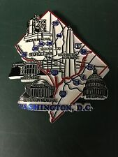 VINTAGE STATE MAGNET WASHINGTON DC MEMORIALS
