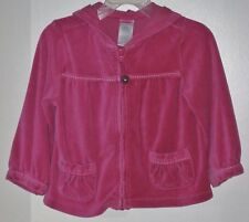 GYMBOREE Girls Size 2T Pink Fleece Front Zipper Long Sleeve Hoodie Jacket