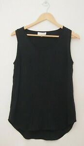 Sportscraft Signature Black Silk Singlet Top   ~Size 10~
