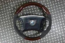 BMW E36 3 E39 5 E38 7 Series Steering Wheel Walnut Wood Alcantara