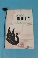 VINTAGE 1948 HOTEL BENTLEY SOUVENIR RESTAURANT DINNER MENU ALEXANDRIA, LA.