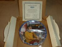 "Star Trek TOS Hamilton Collection 8.5"" diameter Plate Sulu 1830C 1983 COA"