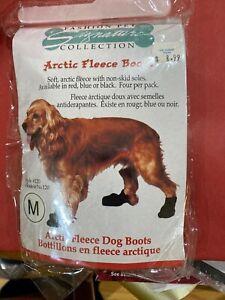 Artic Fleece Boots For Dogs Medium