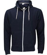 Plain Mens American Fleece Zip up Hoody Jacket Sweatshirt Hooded ZIPPER Top XL Hoodie - Navy