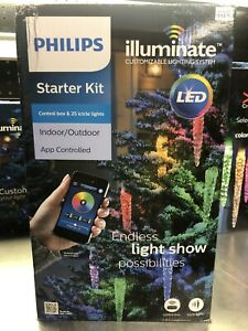 Philips Illuminate Indoor/Outdoor App Controlled 25 Icicle Lights