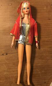 Vintage 1970 Dramatic New Living Barbie Ash Blonde NWT #1116