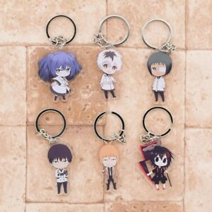 TOKYO GHOUL CHARACTER ANIME KEYCHAIN KEYRING KEYFOBS. NEW.
