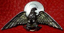 Vintage ZENTALL Eagle Brooch Pin American 1950's Victory Patriotic