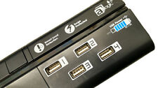 4 USB Charging Ports Extension Lead 6 Way Power Strip UK for Mobile phone Black