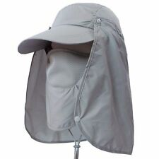 Outdoor Sport Fishing Hiking Hat UV Protection Face Neck Flap Man Sun Cap AU