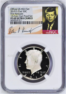 2019 S Proof Kennedy Half Dollar 50c NGC PF69 Ultra CAMEO First Releases