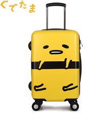 "Japan Sanrio Gudetama Egg ぐでたま 20"" Travel Hard Shell Suitcase with TSA Lock"