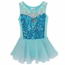 Girls Kids Gymnastics Dancing Dress Ballet Tutu Dancewear Leotard Skirt Costume