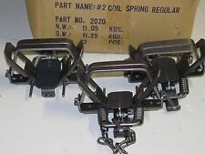 3 Bridger # 2 coilspring Foothold Traps Coyote Fox Trapping  new sale