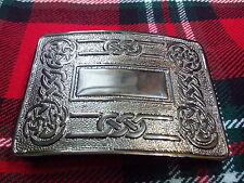 TC Hombre Hebilla De Cinturón Kilt espiral celta ANTIGUO / Falda Escocesa