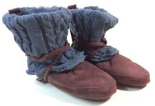 NEW MUK LUKS SLIPPERS JUDIE BOOTIE WOMENS CABLE KNIT FUR LINED SMALL