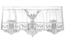 "Heritage Lace HEIRLOOM  White Country Window Valance 60""W x 22""L"