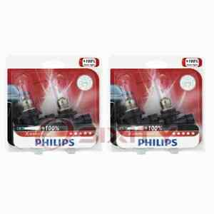 2 pc Philips High Beam Headlight Bulbs for Ferrari 348 GTB 348 GTS 348 yg