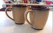 Set 2 Sango Nova Brown Coffee/Tea  Mugs/Cups EUC!