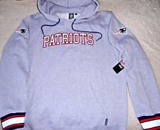 """NEW ENGLAND PATRIOTS """"NFL AUTH."""" GRAY SEWN HOODED SWEATSHIRT MEN'S LARGE NEW $75"""
