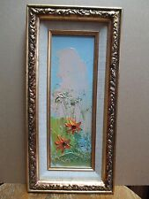Rare Early Morris Katz 1980 Oil Painting Still Life Floral